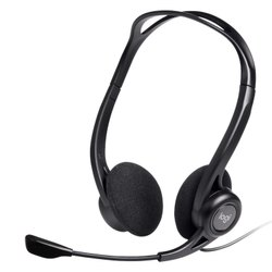 Wired Logitech H370 USB Digital Audio Computer Headset (Black)