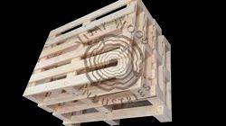 Rectangular Natural 4 Way Wooden Pallet, For Industrial