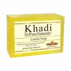 byPureNaturals Khadi Transparent Lemon Soap- 125gm