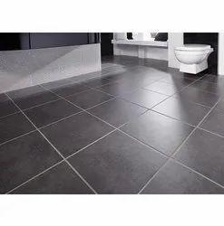 Grey Glossy Bathroom Ceramic Floor Tile, Size: 1x1 Feet, Thickness: 12 mm