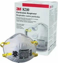 White Disposable 3M 8210 N95 Respirator Mask