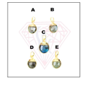 Round Labradorite Gemstone Pendant For Christmas