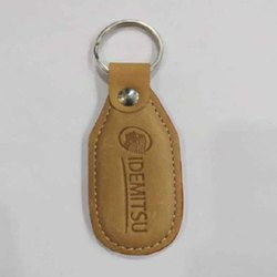棕色GBE-35促销皮革钥匙链