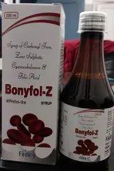 Carbonyl Iron Zinc Sulphate Vit. B12 Folic Acid  Syrup With Mono Carton