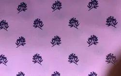 pink Cotton Printed Shirting Fabric