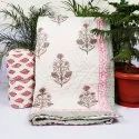 VH-512 Hand Block Printed Baby Quilt