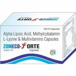 Zomeco Forte Methylcobalamin Alpha Lipoic Acid L-Lysine & Multivitamins Capsules, Biozoc INC, Prescription