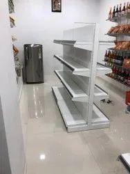 Mild Steel Floor Mounted Supermarket Display Rack