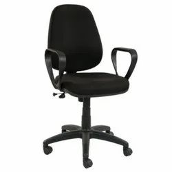 Fabric 100 Kg Black Revolving Office Chair