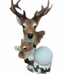 Polyresin S2 307 Decorative Deer Showpiece, Packaging Type: Box