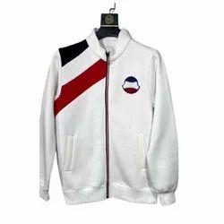 Polyester Mens White Winter Jacket, Size: S-XXL