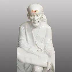 Lord Sai Baba White Marble Statue
