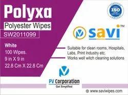 SAVI Polyxa Polyester Cleanroom Wipes, For Laboratory