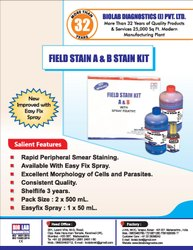 Field Stain Kit A & B For Detecting Malaria Parasites