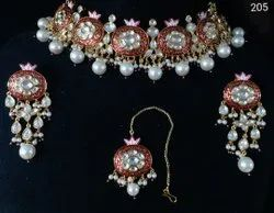 Bollywood Style Bridal Pearl Meenakari Necklace Set
