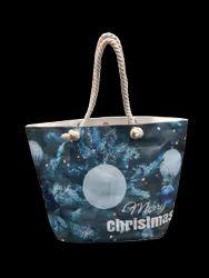 Canvas Laminated Christmas Bag