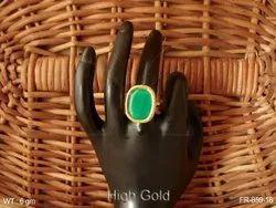 Flower Kundan Finger Ring
