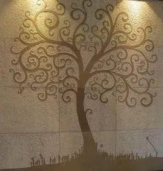 Printed Stone Wall Mural