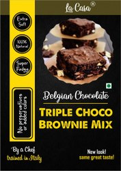 Eggless Triple Chocolate Brownie Mix - Belgian Chocolate, Packaging Type: Packet, Powder