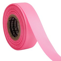 Gross Grain - Pink Ribbons 25mm /1''inch Gross Grain Ribbon 20mtr Length