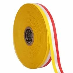 Double Satin Medallion - Yellow, White, Red Ribbons25mm/1Inch 20mtr Length