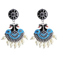 Peacock Design Fashion Alloy Earring