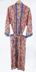 Cotton Hand Block Printed Kimono Dress