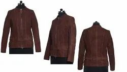 Full Sleeve Party Wear Ladies Leather Jackets
