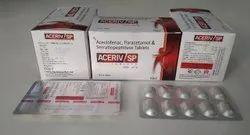 Aceclofenac 100mg Paracetamol 325mg  Serratiopeptidase 15mg Tablet