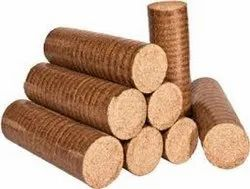 Brown Bamboo Saw Dust Briquette, For Raw Material