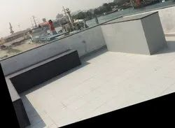 Parapet wall Glass work