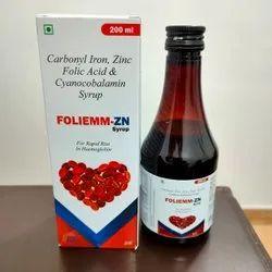 Carbonyl Iron Zinc Folic Acid And Cyanocobalamin Syrup
