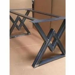 Wrought Iron Industrial Table, For Hotel