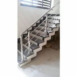 SS202 Stainless Steel Stair Railing, For Home