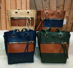 NONE BRAND 4 SUPERB COLOURS Leather Ladies Shoulder Handbag, For Casual Wear