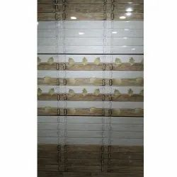 White & Brown Gloss Floral Design Wall Tiles