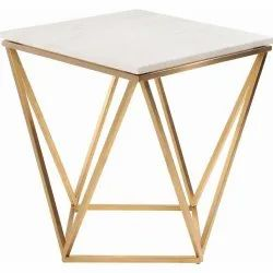 Gold Geometric Table