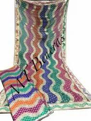 Full Sleeves Multicolor Banarasi Kimkhab Gharara