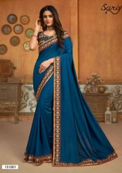 Designer Silk Border Saree