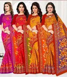 Printed Digital Print Ladies Party Wear Saree, Machine wash, With Blouse Piece