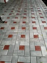 Solid Cement Glossy Paver Block, For Floor