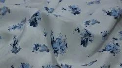 White Garments Printed Linen Fabric, GSM: 140 GSM