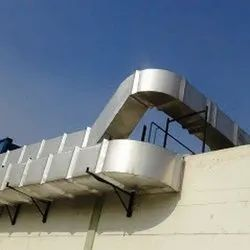 100 Galvanized Iron GI Ducting Fabrication Service, For Exhaust, Exhaust, Ahu