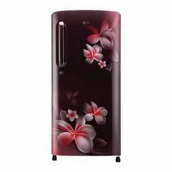 Scarlet Plumeria LG GL-B201ASPY 190 L 4 Star Inverter Refrigerator, Single Door, Capacity: 190Ltr