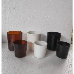 Short Colored Candle Votive Holders