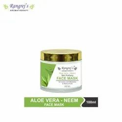 Rangrej's Aromatherapy Aloe Vera Neem Skin Purifying Face Mask Anti Blemish & Reduce Acne 100ml