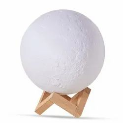 Table Top Polylactic Acid Touch Ball Night Lamp with Wooden Stand, For Home