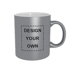 Round Sublimation Silver Mug