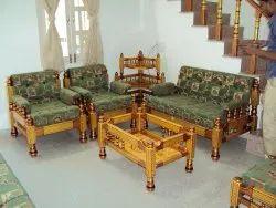 Wooden Maharaja Sofa Set, For Home, Size: 6x2.5x3 Feet