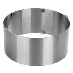 Silver Stainless Steel Adjustable Cake Sponge Ring